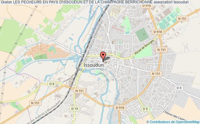 plan association Les Pecheurs En Pays D'issoudun Et De La Champagne Berrichonne Issoudun