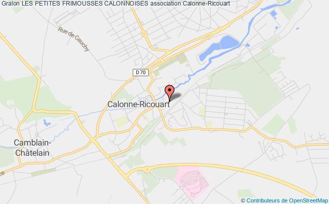 plan association Les Petites Frimousses Calonnoises