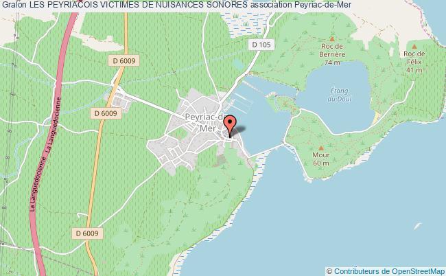 plan association Les Peyriacois Victimes De Nuisances Sonores Peyriac-de-Mer