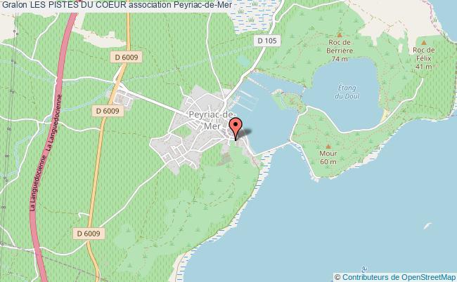 plan association Les Pistes Du Coeur Peyriac-de-Mer