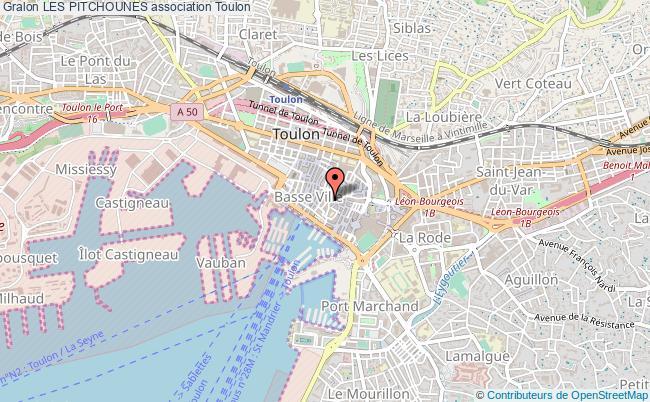 plan association Les Pitchounes Toulon