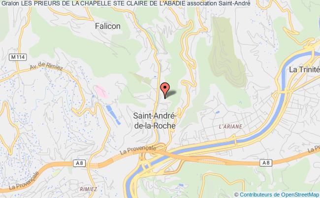 plan association Les Prieurs De La Chapelle Ste Claire De L'abadie
