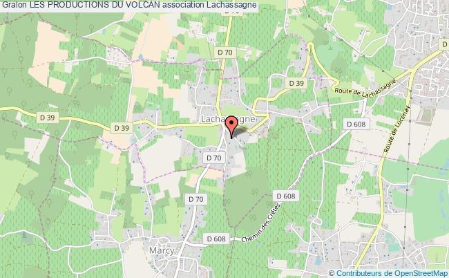plan association Les Productions Du Volcan Lachassagne