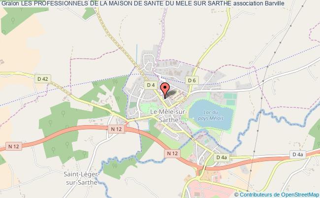 plan association Les Professionnels De La Maison De Sante Du Mele Sur Sarthe LE MELE SUR SARTHE