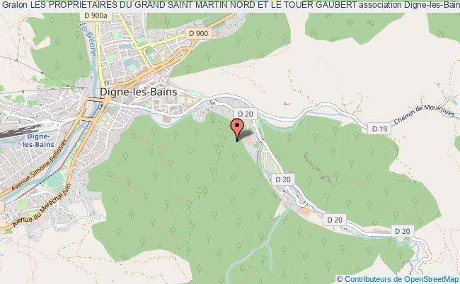 plan association Les Proprietaires Du Grand Saint Martin Nord Et Le Touer Gaubert