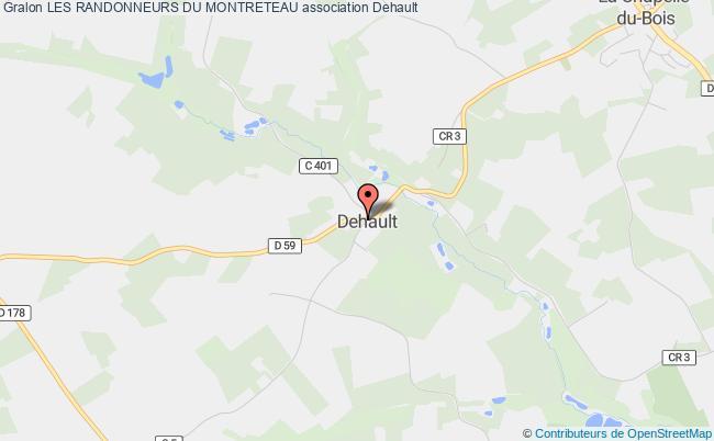 plan association Les Randonneurs Du Montreteau