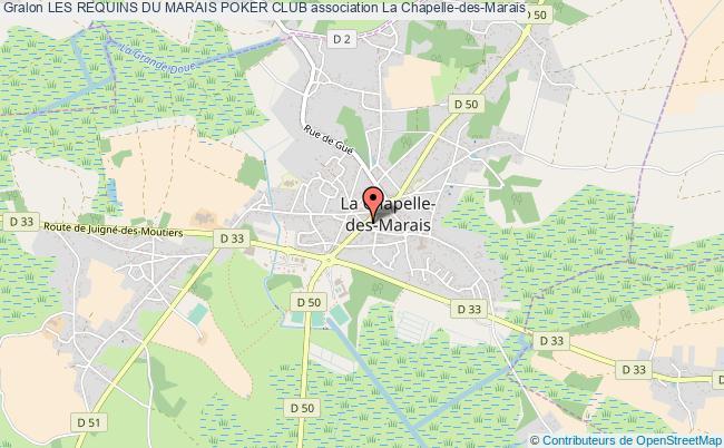 plan association Les Requins Du Marais Poker Club La Chapelle-des-Marais