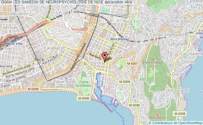 plan association Les Samedis De Neuropsychologie De Nice