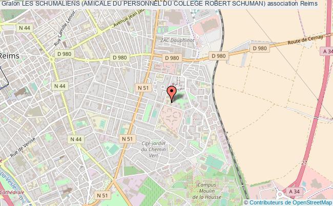 plan association Les Schumaliens (amicale Du Personnel Du College Robert Schuman)