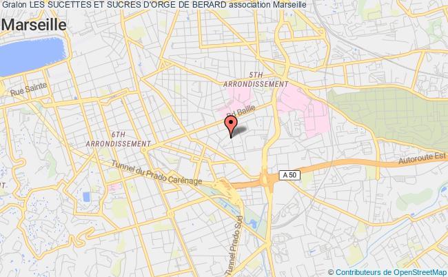 plan association Les Sucettes Et Sucres D'orge De Berard Marseille