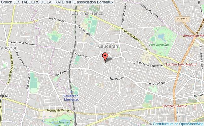plan association Les Tabliers De La FraternitÉ Bordeaux