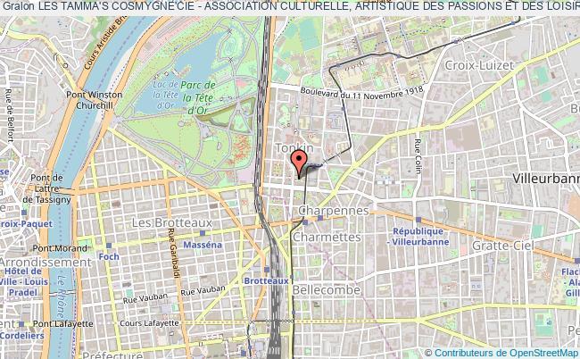 plan association Les Tamma's Cosmygne'cie - Association Culturelle, Artistique Des Passions Et Des Loisirs (acapl)
