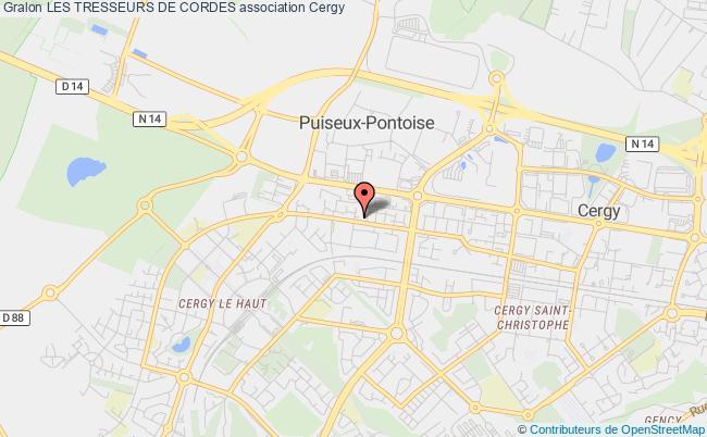 plan association Les Tresseurs De Cordes Cergy