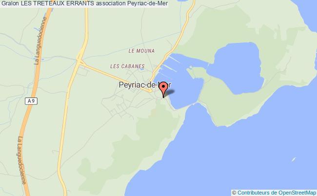plan association Les Treteaux Errants Peyriac-de-Mer