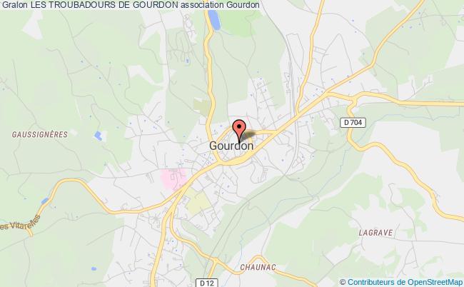 plan association Les Troubadours De Gourdon