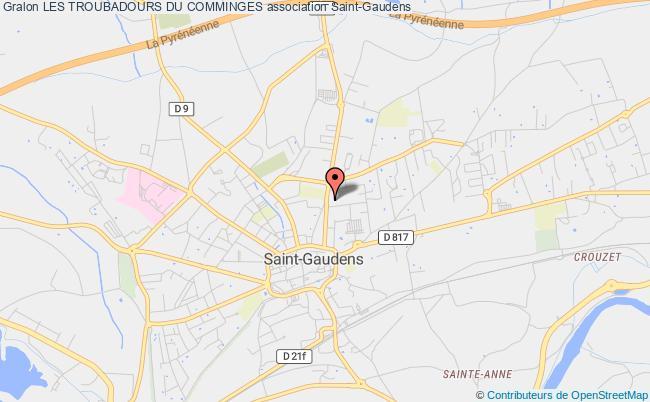 plan association Les Troubadours Du Comminges Saint-Gaudens