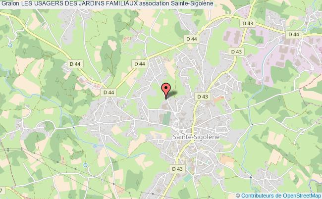 plan association Les Usagers Des Jardins Familiaux Sainte-Sigolène
