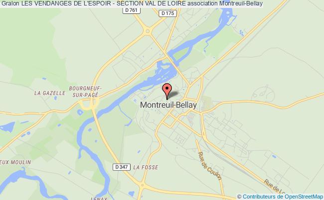 plan association Les Vendanges De L'espoir - Section Val De Loire Montreuil-Bellay