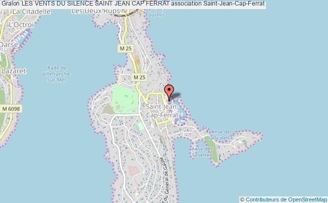 plan association Les Vents Du Silence Saint Jean Cap Ferrat