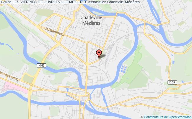 plan association Les Vitrines De Charleville-mezieres
