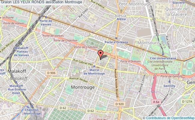 plan association Les Yeux Ronds Montrouge