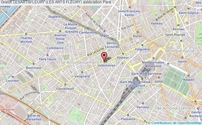 plan association Lesartsfleury (les Arts Fleury) Paris 15e