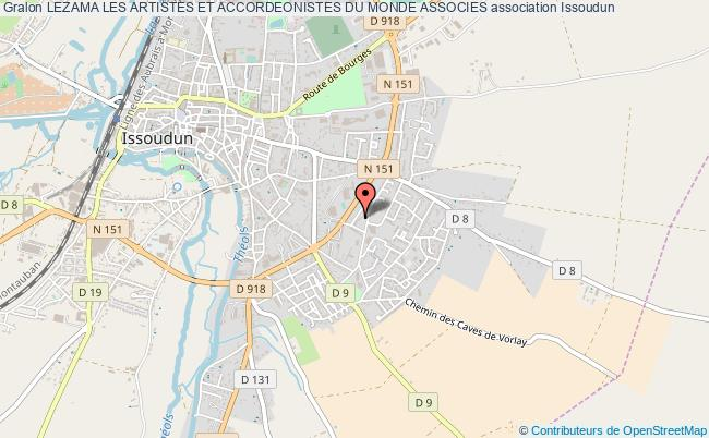 plan association Lezama Les Artistes Et Accordeonistes Du Monde Associes Issoudun