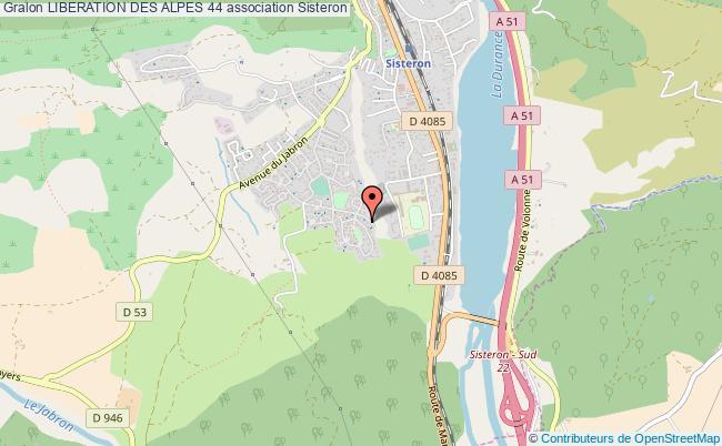 plan association Liberation Des Alpes 44