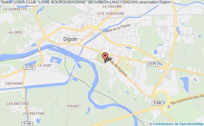 "plan association Liger-club ""loire Bourguignonne"" (bourbon-lancy/digoin) Digoin"