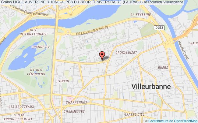 plan association Ligue Auvergne RhÔne-alpes Du Sport Universitaire (laurasu)