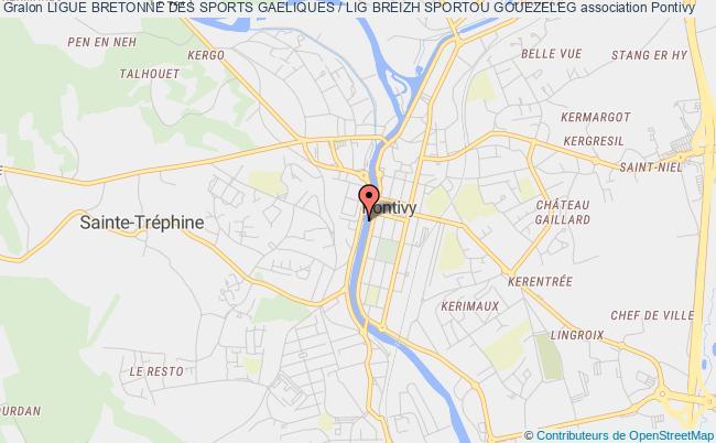 plan association Ligue Bretonne De Football Gaelique / Lig Breizhat Mell-droad Gouezelek