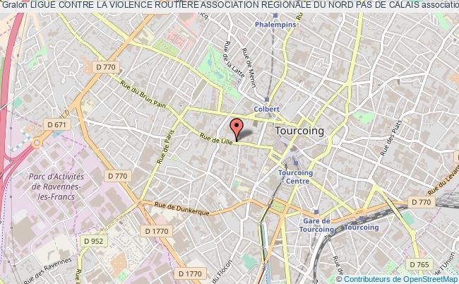 plan association Ligue Contre La Violence Routiere Association Regionale Du Nord Pas De Calais Tourcoing