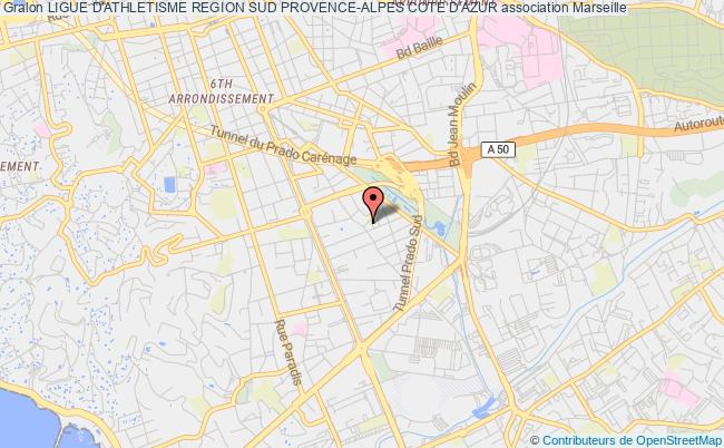 plan association Ligue D'athletisme Region Sud Provence-alpes Cote D'azur