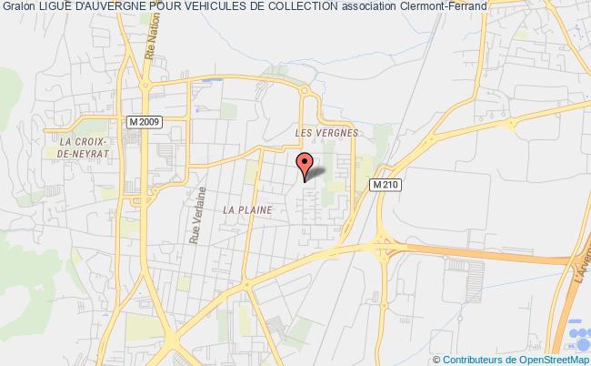 plan association Ligue D'auvergne Pour Vehicules De Collection Clermont-Ferrand