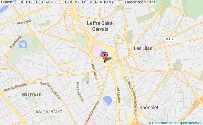 plan association Ligue D'ile De France De Course D'orientation (lifco)