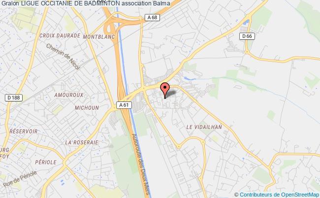 plan association Ligue Occitanie De Badminton