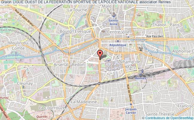 plan association Ligue Ouest De La Federation Sportive De La Police Nationale Rennes
