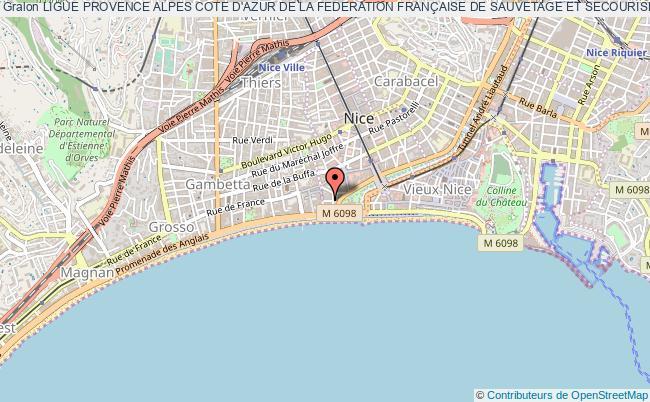 plan association Ligue Provence Alpes Cote D'azur De La Federation FranÇaise De Sauvetage Et Secourisme