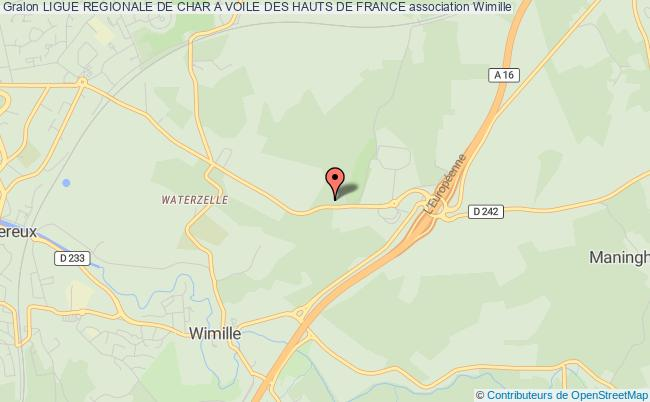 plan association Ligue Regionale De Char A Voile Des Hauts De France Wimille