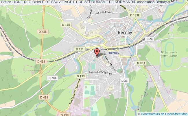 plan association Ligue Regionale De Sauvetage Et De Secourisme De Normandie