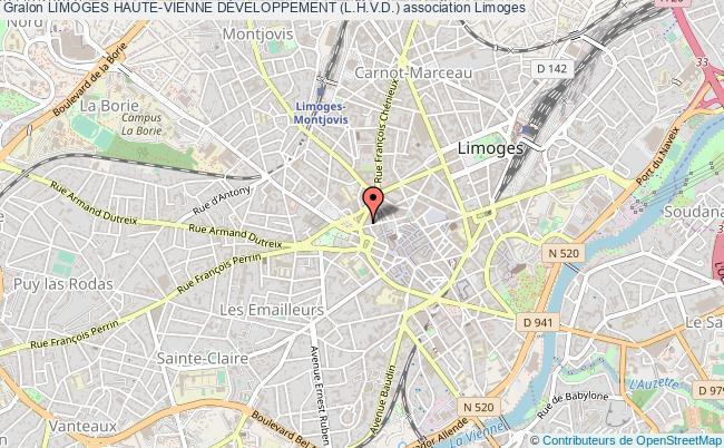 plan association Limoges Haute-vienne DÉveloppement (l.h.v.d.)