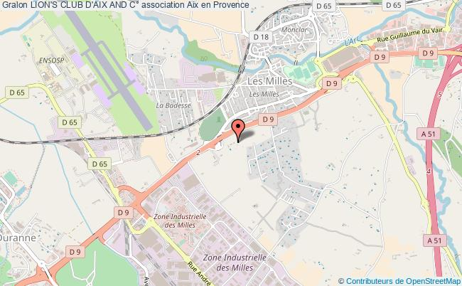 plan association Lion's Club D'aix And C° Aix-en-Provence