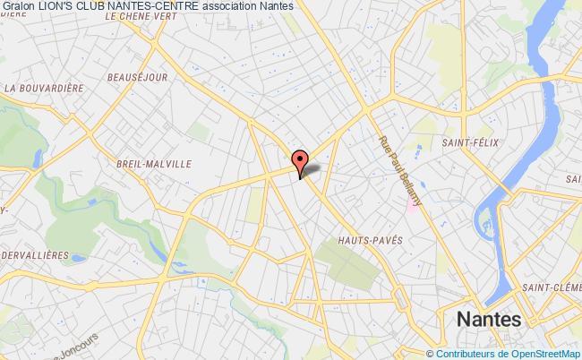 plan association Lion's Club Nantes-centre
