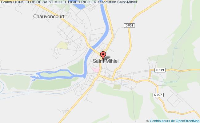 plan association Lion's Club Saint Mihiel Ligier Richier