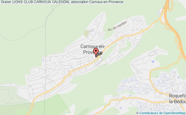 plan association Lions Club Carnoux Calendal
