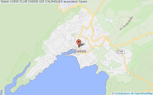 plan association Lions Club Cassis Les Calanques
