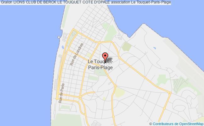 plan association Lions Club De Berck Le Touquet Cote D'opale Le Touquet-Paris-Plage