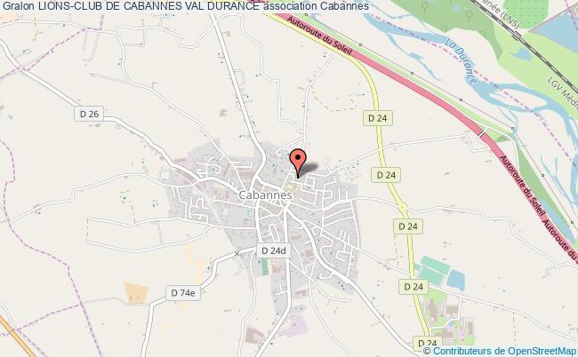 plan association Lions-club De Cabannes Val Durance
