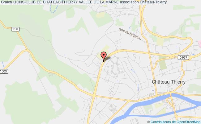 plan association Lions-club De Chateau-thierry Vallee De La Marne