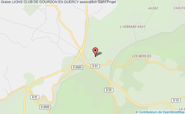 plan association Lions Club De Gourdon En Quercy